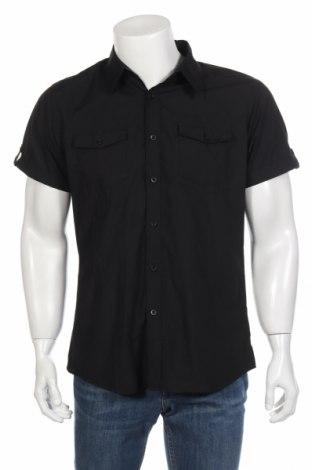 Мъжка риза Smog, Размер L, Цвят Черен, 65% полиестер, 35% памук, Цена 10,40лв.