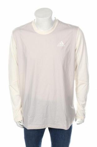Мъжка спортна блуза Adidas, Размер XL, Цвят Бежов, Полиестер, полиамид, еластан, Цена 64,50лв.