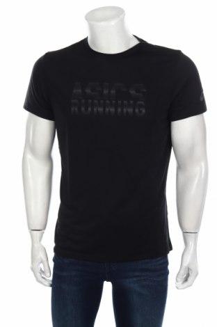 Ανδρικό t-shirt ASICS, Μέγεθος M, Χρώμα Μαύρο, 65% πολυεστέρας, 35% βισκόζη, Τιμή 10,64€