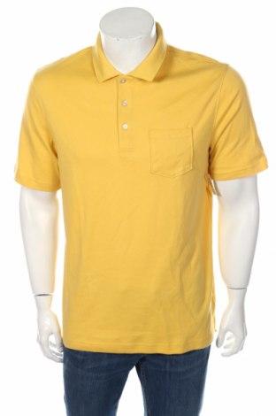 Мъжка тениска Amazon, Размер M, Цвят Жълт, 60% памук, 40% полиестер, Цена 18,56лв.