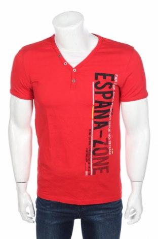 Ανδρικό t-shirt Angelo Litrico, Μέγεθος M, Χρώμα Κόκκινο, Βαμβάκι, Τιμή 2,92€