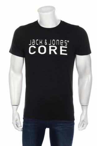 Tricou de bărbați Core By Jack & Jones, Mărime S, Culoare Negru, 65% poliester, 35% bumbac, Preț 69,47 Lei