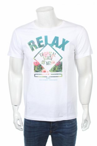 Tricou de bărbați Edc By Esprit, Mărime M, Culoare Alb, Bumbac, Preț 44,21 Lei