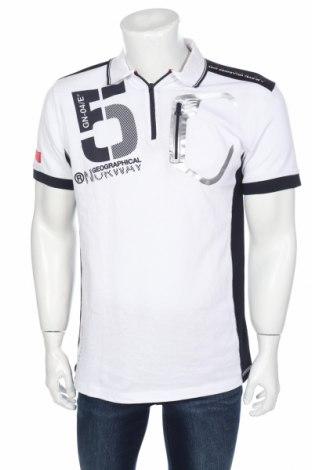 Tricou de bărbați Geographical Norway, Mărime XL, Culoare Alb, Bumbac, Preț 72,47 Lei