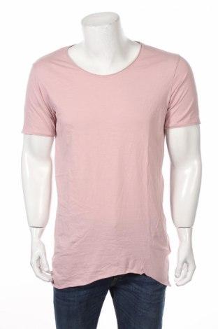Мъжка тениска Smog, Размер M, Цвят Розов, Памук, Цена 7,51лв.