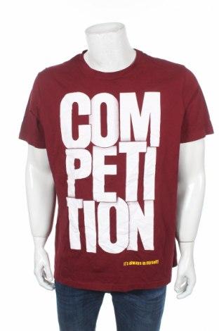 Мъжка тениска Splash, Размер XL, Цвят Червен, 100% памук, Цена 12,60лв.