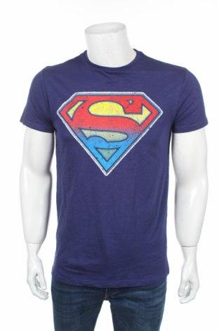Мъжка тениска Superman, Размер M, Цвят Син, Памук, Цена 16,80лв.