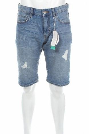 Pantaloni scurți de bărbați Edc By Esprit, Mărime M, Culoare Albastru, Bumbac, Preț 72,63 Lei