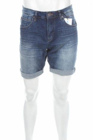 Pantaloni scurți de bărbați Garcia Jeans, Mărime M, Culoare Albastru, 98% bumbac, 2% elastan, Preț 58,95 Lei