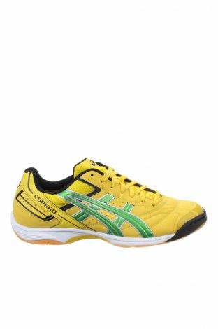 Ανδρικά παπούτσια ASICS, Μέγεθος 41, Χρώμα Κίτρινο, Δερματίνη, κλωστοϋφαντουργικά προϊόντα, Τιμή 23,04€