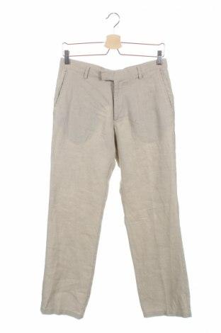 Мъжки панталон H&M, Размер S, Цвят Бежов, Лен, Цена 11,03лв.