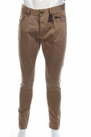 Ανδρικό παντελόνι Zara, Μέγεθος M, Χρώμα  Μπέζ, 98% βαμβάκι, 2% ελαστάνη, Τιμή 8,66€
