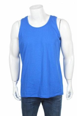 Ανδρική αμάνικη μπλούζα Fruit Of The Loom, Μέγεθος XL, Χρώμα Μπλέ, Βαμβάκι, Τιμή 6,01€