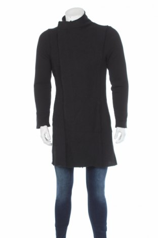 Мъжко палто RNT23 Jeans, Размер M, Цвят Черен, 50% памук, 50% полиестер, Цена 80,15лв.