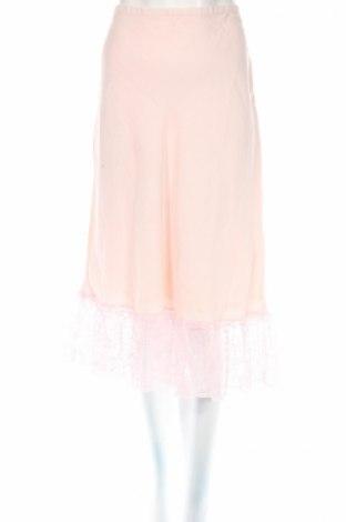 Φούστα Rene Derhy, Μέγεθος L, Χρώμα Ρόζ , 55% λινό, 45% βισκόζη, Τιμή 7,36€