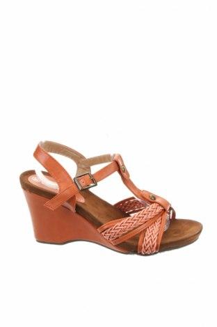 Sandále, Veľkosť 36, Farba Oranžová, Eko koža , Cena  14,65€
