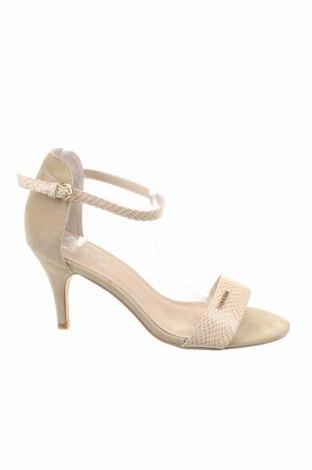 Sandale Cassis cote d'azur, Mărime 39, Culoare Bej, Piele ecologică, textil, Preț 117,89 Lei