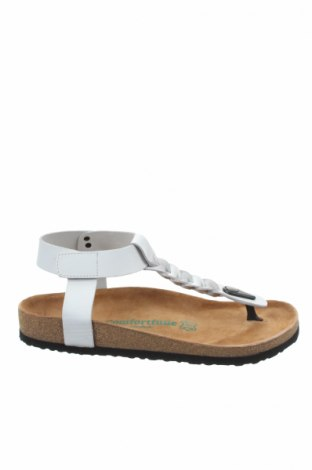 Sandale Comfortfüße, Mărime 39, Culoare Alb, Piele naturală, Preț 197,29 Lei