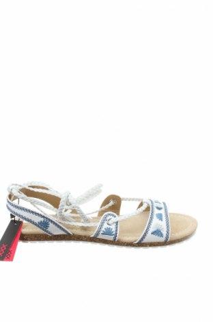 Sandale Maria Mare, Mărime 39, Culoare Alb, Piele ecologică, textil, Preț 92,84 Lei