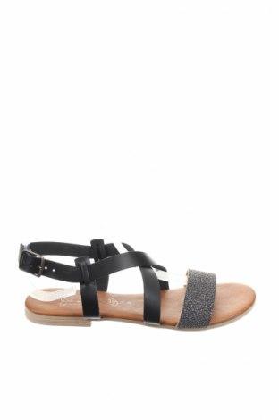 Sandale Miss Butterfly, Mărime 38, Culoare Argintiu, Piele ecologică, Preț 74,79 Lei