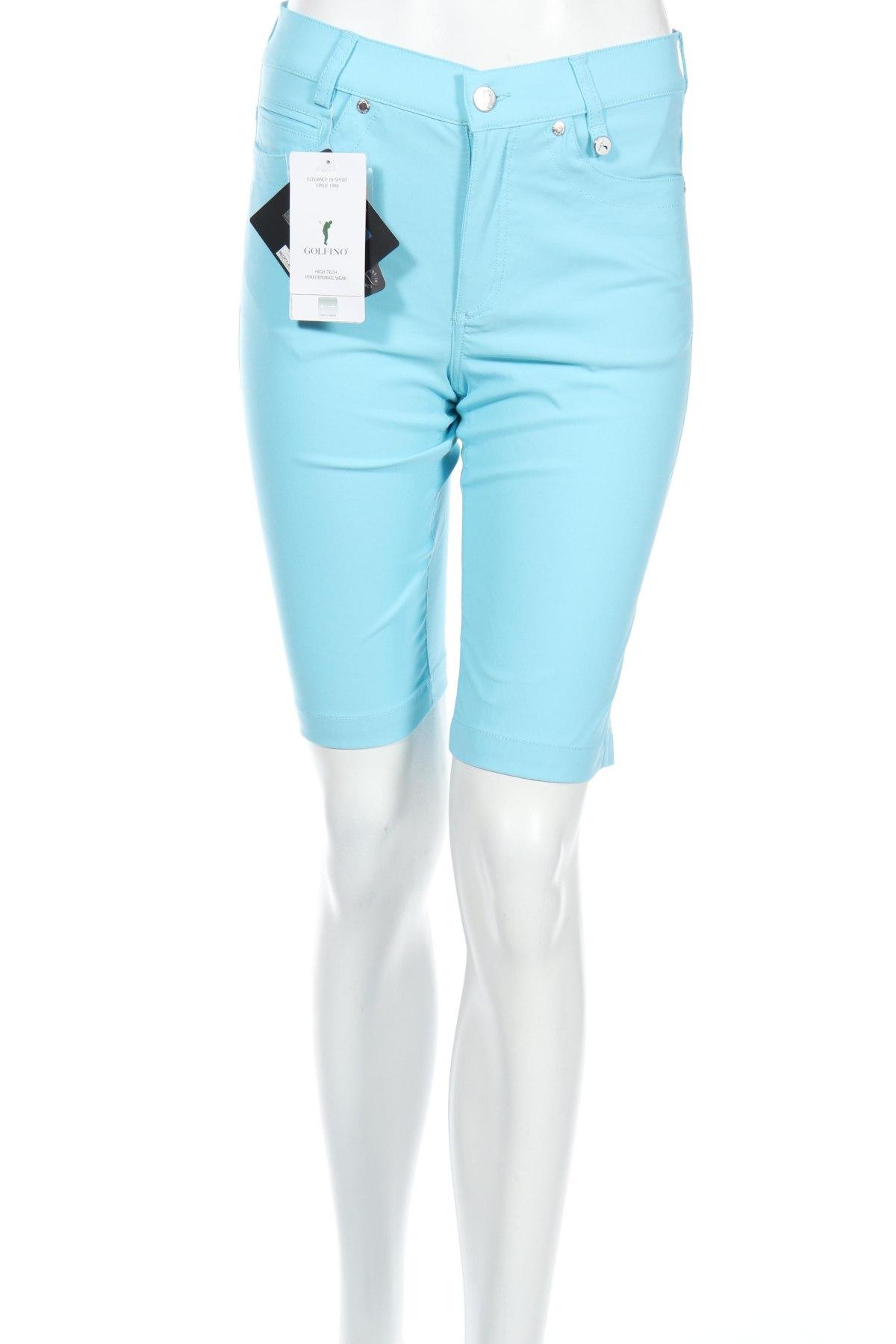 Дамски къс панталон Golfino, Размер XS, Цвят Син, 94% полиамид, 6% еластан, Цена 19,60лв.