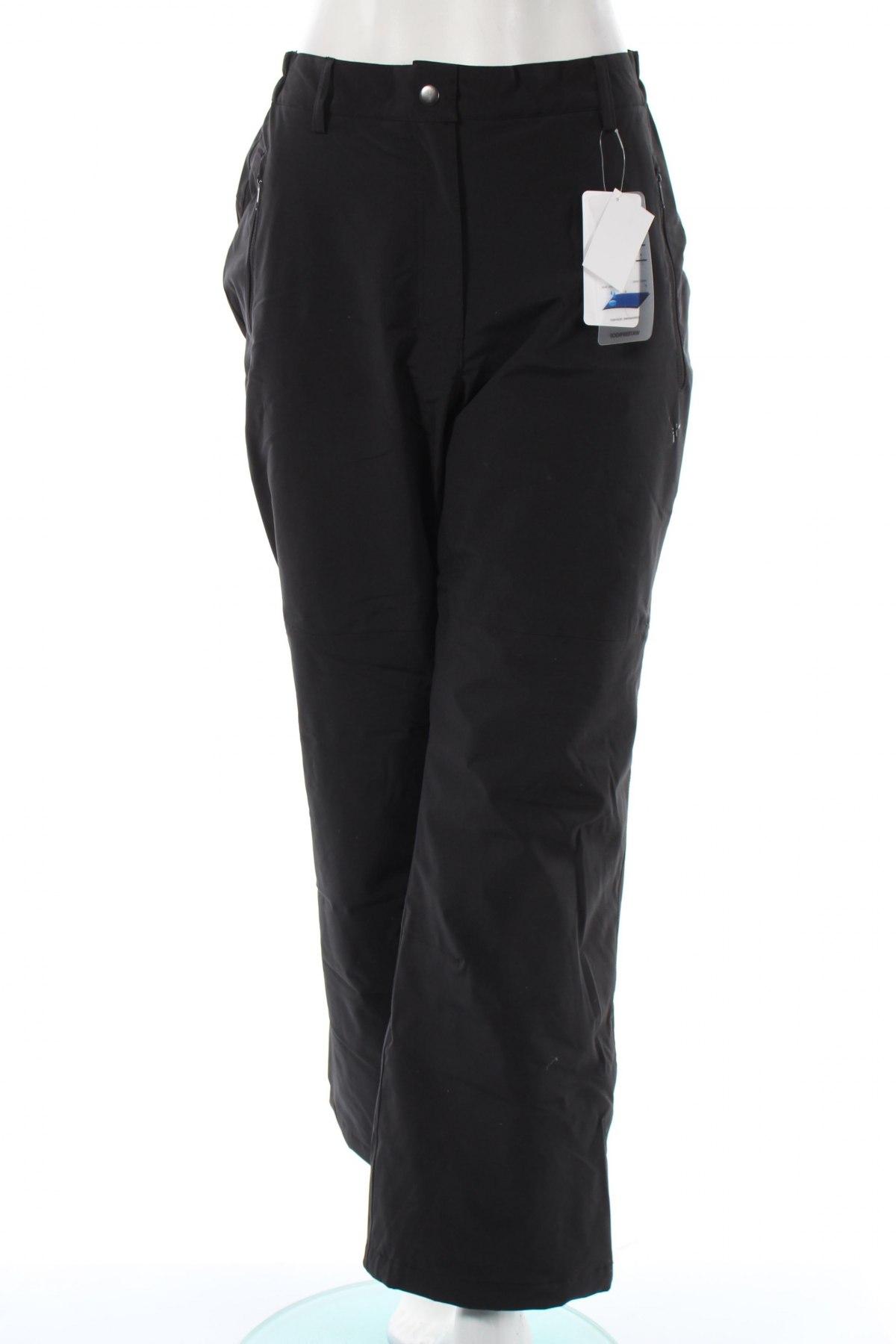 Дамски панталон за зимни спортове Ulla Popken, Размер XL, Цвят Черен, 94% полиестер, 6% еластан, Цена 52,15лв.
