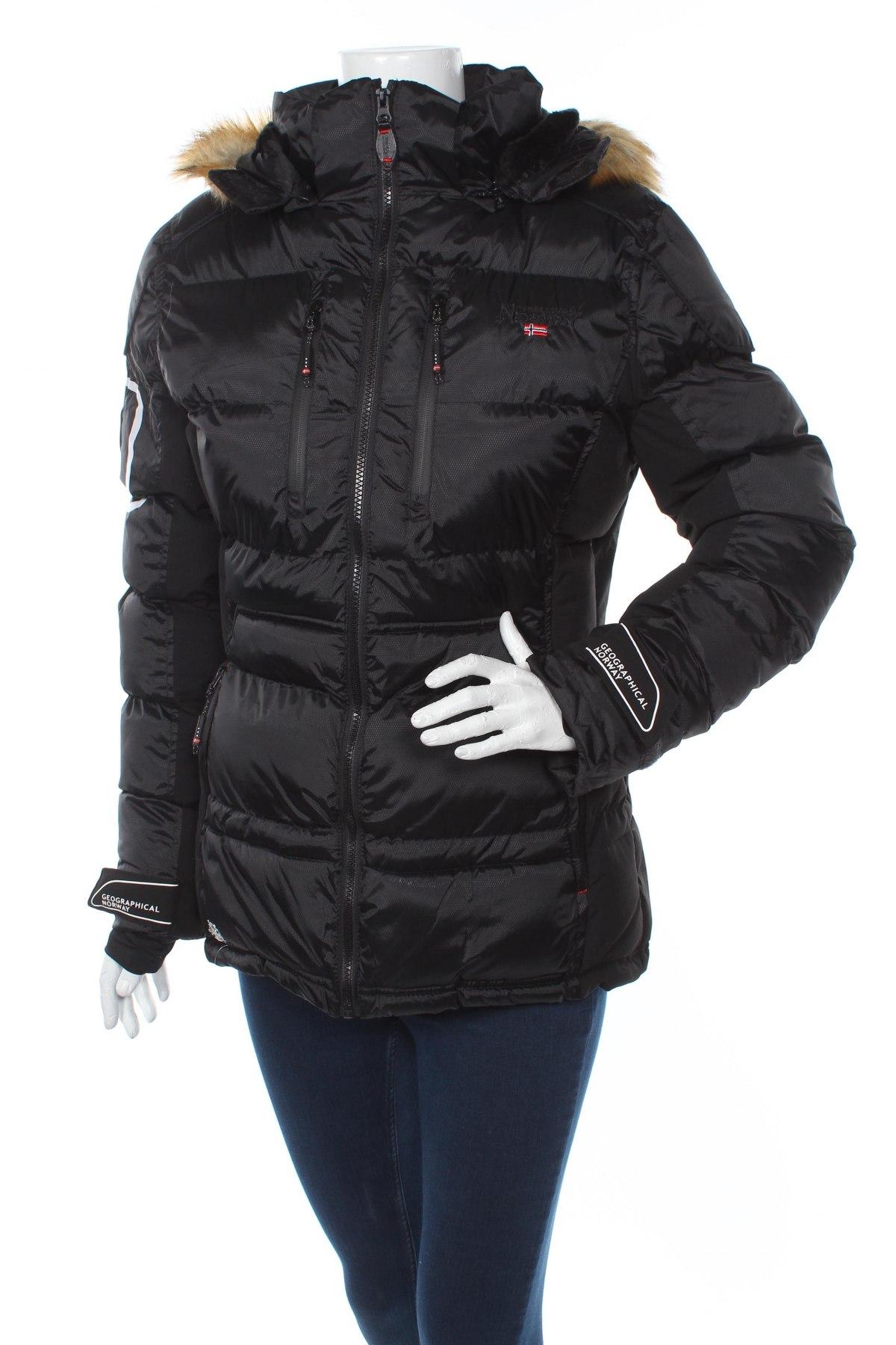 Дамско яке за зимни спортове Geographical Norway, Размер M, Цвят Черен, Полиестер, Цена 146,25лв.