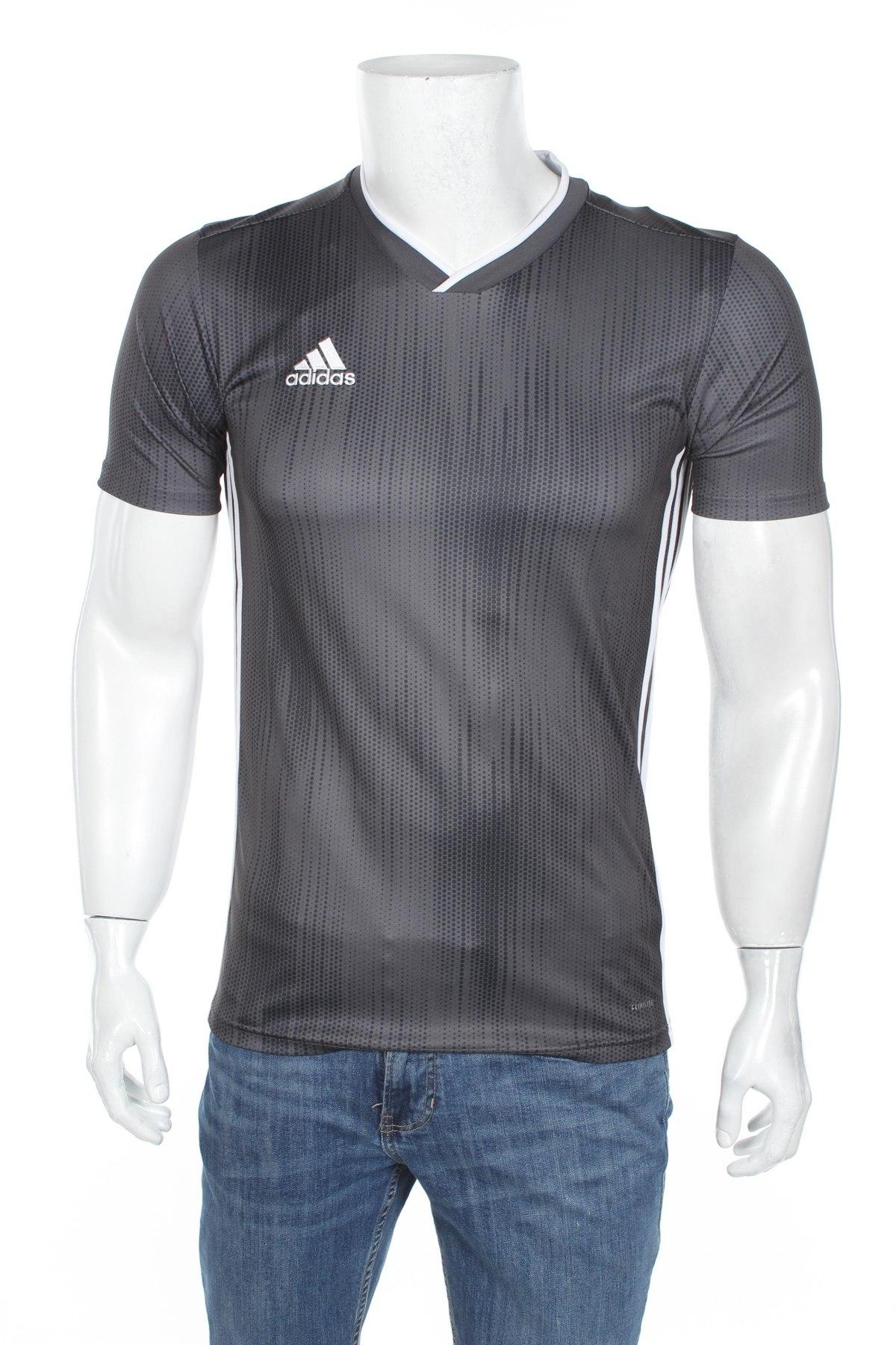 Мъжка тениска Adidas, Размер XS, Цвят Сив, Полиестер, Цена 44,25лв.