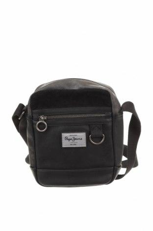 Чанта Pepe Jeans, Цвят Черен, Еко кожа, текстил, Цена 66,75лв.