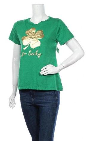 Дамска тениска, Размер S, Цвят Зелен, 80% полиестер, 20% памук, Цена 26,25лв.