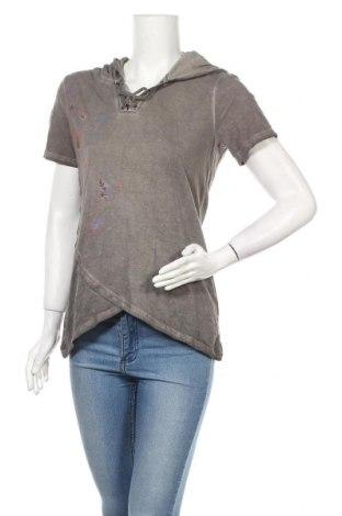 Дамска блуза 17 & Co., Размер L, Цвят Сив, Памук, Цена 13,23лв.