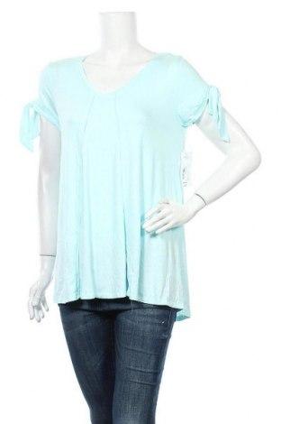 Γυναικεία μπλούζα A.N.A., Μέγεθος M, Χρώμα Μπλέ, 95% βισκόζη, 5% ελαστάνη, Τιμή 5,00€