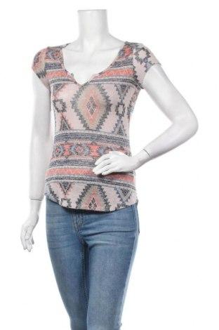 Дамска блуза Almost Famous, Размер M, Цвят Многоцветен, 63% полиестер, 34% вискоза, 3% еластан, Цена 5,88лв.