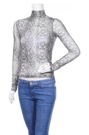 Дамска блуза Bershka, Размер XS, Цвят Сив, Цена 18,00лв.