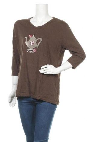 Дамска блуза Bexleys, Размер XL, Цвят Кафяв, Памук, Цена 15,96лв.