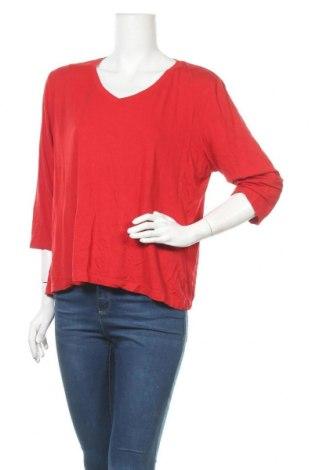 Дамска блуза Blue Illusion, Размер L, Цвят Червен, 95% вискоза, 5% еластан, Цена 7,56лв.