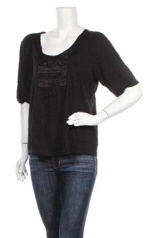 Дамска блуза Blue Illusion, Размер XL, Цвят Черен, 50% памук, 50% модал, Цена 6,30лв.