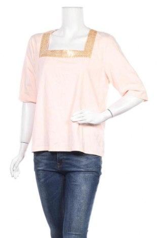 Дамска блуза Blue Illusion, Размер XXL, Цвят Розов, 95% памук, 5% еластан, Цена 15,12лв.