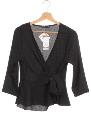 Дамска блуза Boohoo, Размер M, Цвят Черен, 97% полиестер, 3% еластан, Цена 27,00лв.
