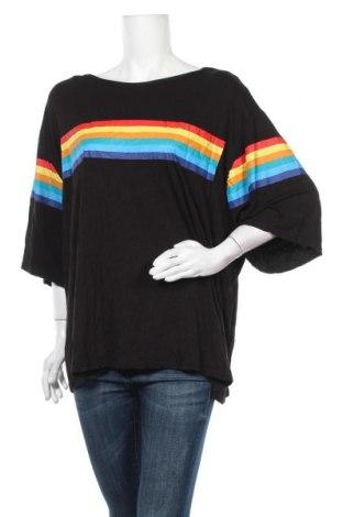 Дамска блуза Boohoo, Размер XXL, Цвят Черен, 95% вискоза, 5% еластан, Цена 19,95лв.