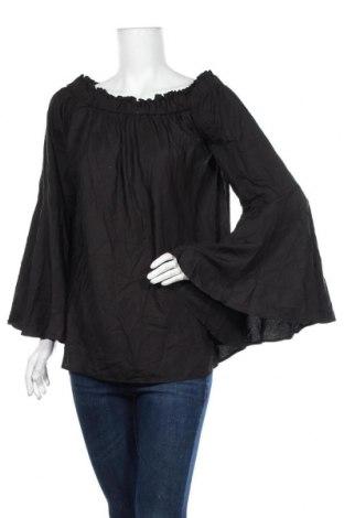 Дамска блуза Boohoo, Размер XL, Цвят Черен, Полиестер, Цена 27,30лв.