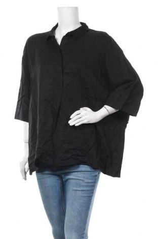Дамска блуза COS, Размер L, Цвят Черен, Лиосел, Цена 45,89лв.
