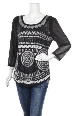 Дамска блуза Caroline K Morgan, Размер XL, Цвят Черен, Полиестер, Цена 17,85лв.