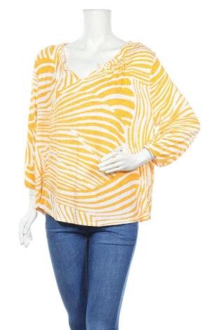 Дамска блуза Chico's, Размер L, Цвят Жълт, 97% вискоза, 3% еластан, Цена 30,45лв.