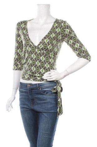 Дамска блуза Clockhouse, Размер S, Цвят Многоцветен, 95% вискоза, 5% еластан, Цена 15,96лв.