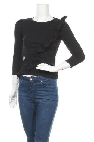Дамска блуза Clockhouse, Размер S, Цвят Черен, 95% памук, 5% еластан, Цена 17,96лв.