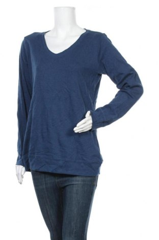 Дамска блуза Colours Of The World, Размер XXL, Цвят Син, 80% памук, 20% полиестер, Цена 13,97лв.