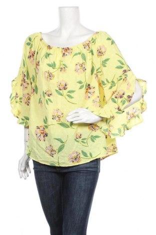 Дамска блуза Crossroads, Размер XL, Цвят Жълт, 97% полиестер, 3% еластан, Цена 18,90лв.