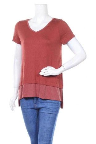 Дамска блуза Cynthia Rowley, Размер M, Цвят Кафяв, 96% вискоза, 4% еластан, Цена 26,88лв.