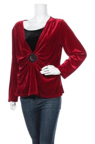 Дамска блуза Elementz, Размер XL, Цвят Червен, 90% полиестер, 10% еластан, Цена 8,98лв.